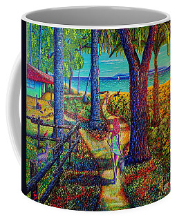 Coffee Mug featuring the painting Chez Les Amazons by Viktor Lazarev