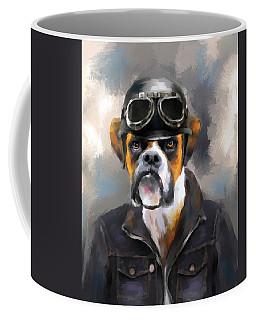 Chic Boxer Aviator Coffee Mug by Jai Johnson