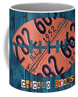 Chicago Bears Football Recycled License Plate Art Coffee Mug