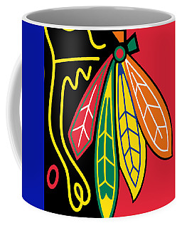 Chicago Blackhawks Coffee Mug by Tony Rubino