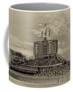 Chicago Cubs Scoreboard In Heirloom Finish Coffee Mug by Thomas Woolworth