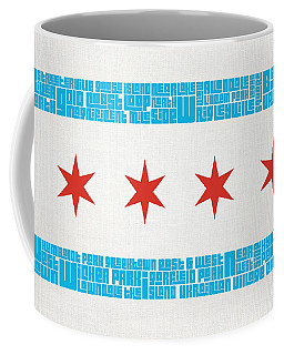 Chicago Flag Neighborhoods Coffee Mug