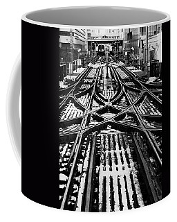 Chicago 'l' Tracks Winter Coffee Mug