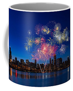 Chicago Lakefront Fireworks Coffee Mug