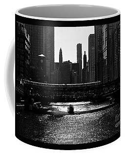 Chicago Morning Commute - Monochrome Coffee Mug