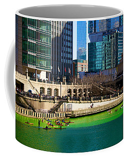 The Chicago River On St. Patrick's Day Coffee Mug