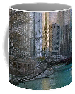 Chicago River Sunset Coffee Mug