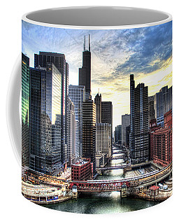 Chicago River Coffee Mug by Tammy Wetzel