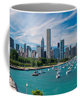 Chicago Skyline Daytime Panoramic Coffee Mug