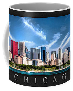 Chicago Skyline Panorama Poster Coffee Mug