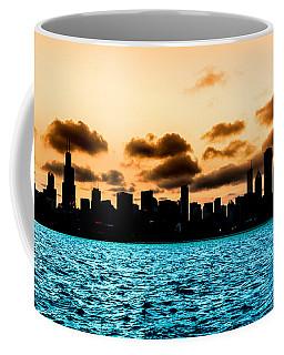 Chicago Skyline Silhouette Coffee Mug by Semmick Photo