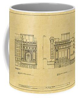 Chicago Theatre Blueprint 2 Coffee Mug
