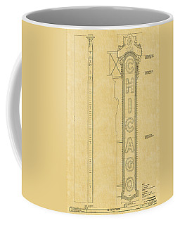 Chicago Theatre Blueprint Coffee Mug