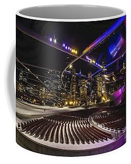 Chicago's Pritzker Pavillion With Colored Lights  Coffee Mug