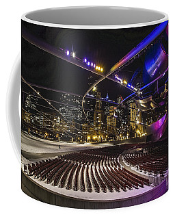 Chicago's Pritzker Pavillion With Colored Lights  Coffee Mug
