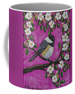 Chickadee In Apple Blossoms Coffee Mug