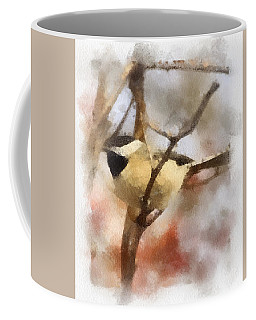 Coffee Mug featuring the painting Chickadee Watercolor by Kerri Farley