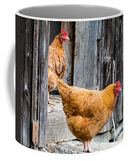 Chickens At The Barn Coffee Mug