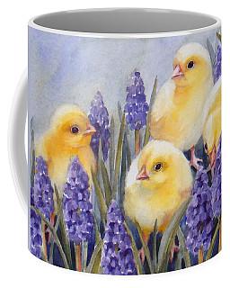 Chicks Among The Hyacinth Coffee Mug
