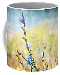 Coffee Mug featuring the photograph Chicory By The Beach by Peggy Collins
