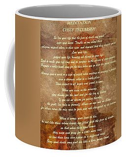 Chief Tecumseh Poem Coffee Mug by Dan Sproul