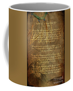 Chief Tecumseh Poem Coffee Mug