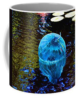Artsy Blue Glass Float Coffee Mug