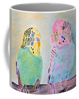 Childhood Parakeets Coffee Mug by Meryl Goudey