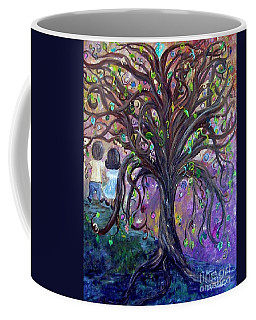 Coffee Mug featuring the painting Children Under The Fantasy Tree With Jackie Joyner-kersee by Eloise Schneider