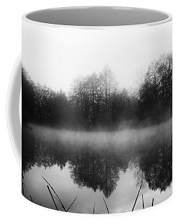 Coffee Mug featuring the photograph Chilly Morning Reflections by Miguel Winterpacht
