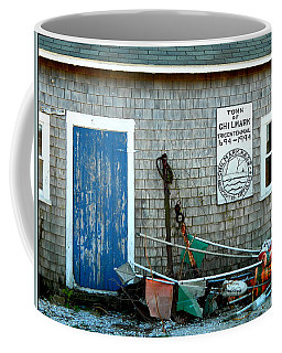 Chilmark Dock Shack Coffee Mug by Kathy Barney