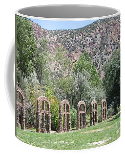 Coffee Mug featuring the photograph Chimayo Sanctuary In New Mexico by Dora Sofia Caputo Photographic Art and Design