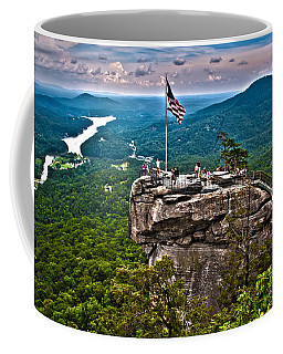 Coffee Mug featuring the photograph Chimney Rock At Lake Lure by Alex Grichenko