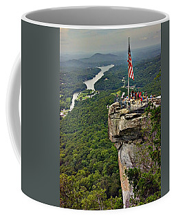 Coffee Mug featuring the photograph Chimney Rock Overlook by Alex Grichenko