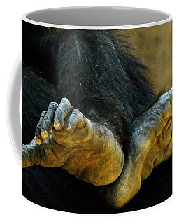 Chimpanzee Feet Coffee Mug by Clare Bevan