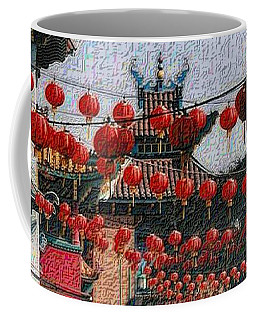 Coffee Mug featuring the photograph Chinatown by Nadalyn Larsen