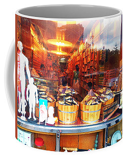 Coffee Mug featuring the photograph Chinatown Nyc Herb Shop by Joan Reese