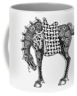 Chinese Horse - Zentangle Coffee Mug