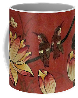 Chinese Red Lacquer Chest Detail Coffee Mug