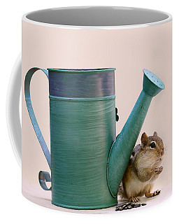 Chipmunk And Watering Can Coffee Mug