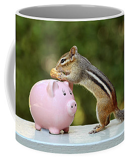 Chipmunk Saving Peanut For A Rainy Day Coffee Mug