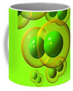 Coffee Mug featuring the digital art Chlorine Molecule 1 Green by Russell Kightley