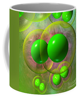 Coffee Mug featuring the digital art Chlorine Molecule 2 Texture by Russell Kightley