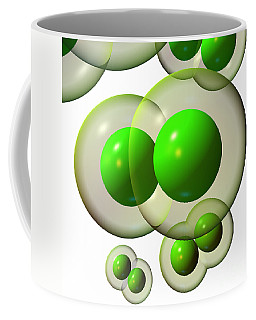 Coffee Mug featuring the digital art Chlorine Molecule 3 White by Russell Kightley
