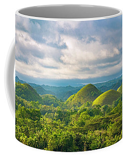 Chocolate Hills In Late Afternoon Coffee Mug