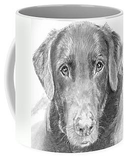 Chocolate Lab Sketched In Charcoal Coffee Mug