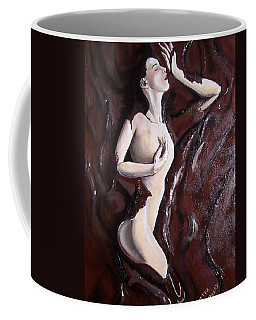 Coffee Mug featuring the mixed media Chocolate Omega by Peter Suhocke