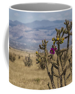 Cholla Cactus And Jemez Mountains 2 - Santa Fe New Mexico Coffee Mug