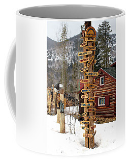 Coffee Mug featuring the photograph Choose Your Direction by Fiona Kennard