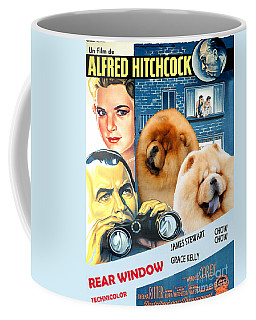 Chow Chow Art Canvas Print - Rear Window Movie Poster Coffee Mug